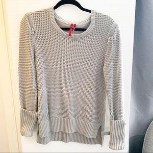 Love Scarlett Zip Shoulder Sweater